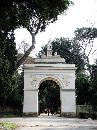 Penis Arch at Villa Borghese