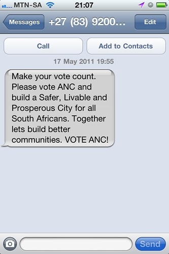 ANC election SMS