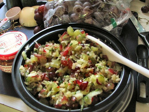 Grape Cucumber Salsa
