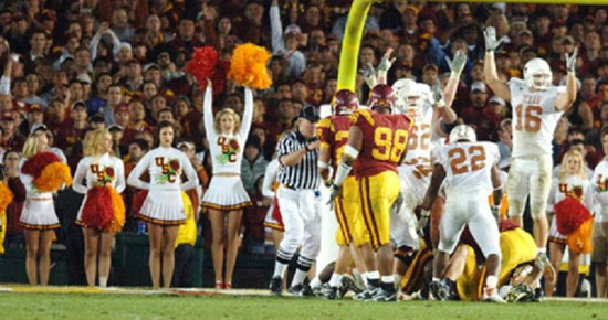 USC Cheerleader Cheers Wrong Team