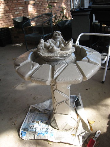 Fountain Painted before Glazing