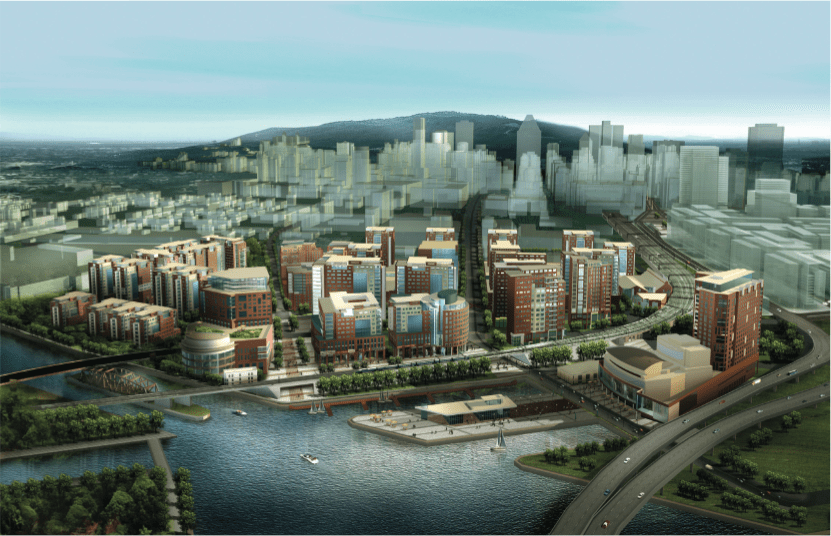 Aerial rendering - Village Griffintown