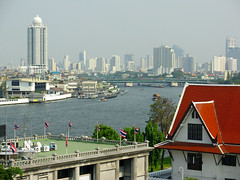 View of 'new' Bangkok from Wat Arun