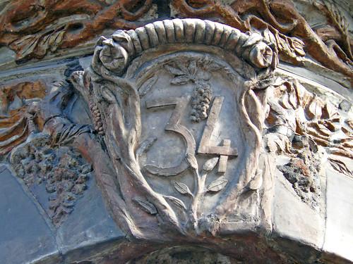 Art Nouveau street number