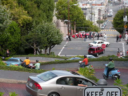Rolling down Lombard St.