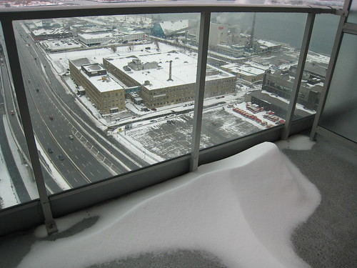 first snow 07 on my balcony