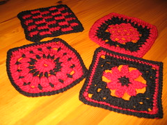 First set of squares for the Red/Black Swap
