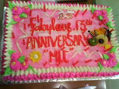 Kue ulang tahun 13 MLC