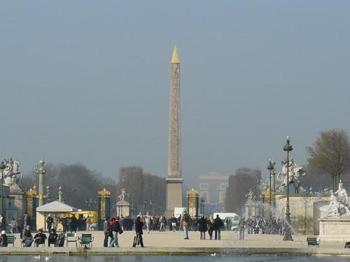 Place de la Concorde, vue du Jardin des Tuileries