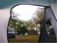 06 Camping 3-08 Morning Tent View