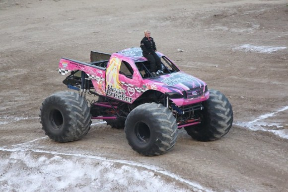 Heart breaker monster truck girl driver