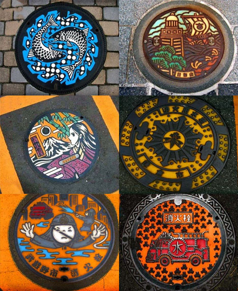 Creatively Painted Manhole Covers