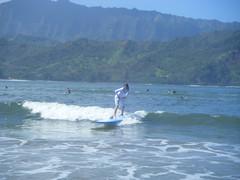 Hanalei, Kauai surfing