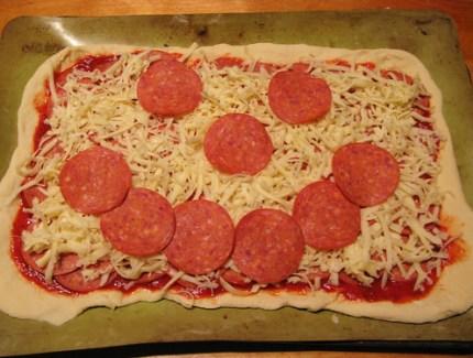 smilie pizza