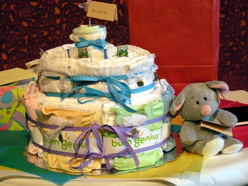 Diaper Cake & Dormouse (baby shower