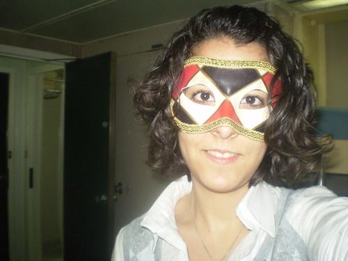 Lucá con una máscara de Florencia