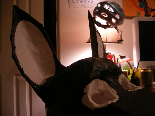 Donkey Mask detail (half painted)