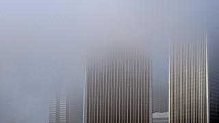 Fog over Century City