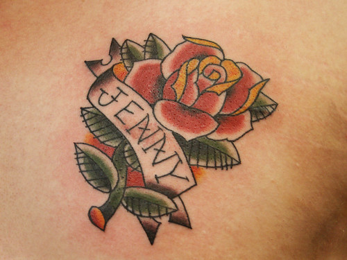 Rose & Name Tattoo