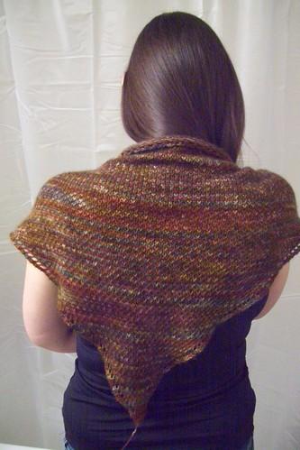 eye of partridge shawl -- back view