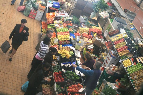 Lisbon market overhead