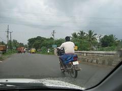 Chinna Kavanam village immediately after this River Bridge