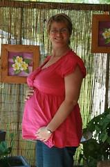 My sister Jo, 28 weeks pregnant