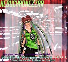 NDN - Skulls & Stripes Series - Green