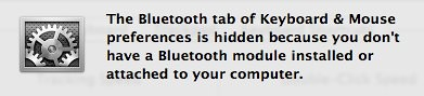 OS X Bluetooth missing