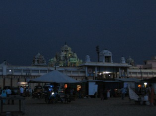 ashtalakshmi temple from beach