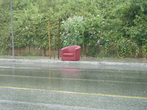 Chair on a rainy day