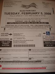 bulletin de vote pour les primaires en Floride