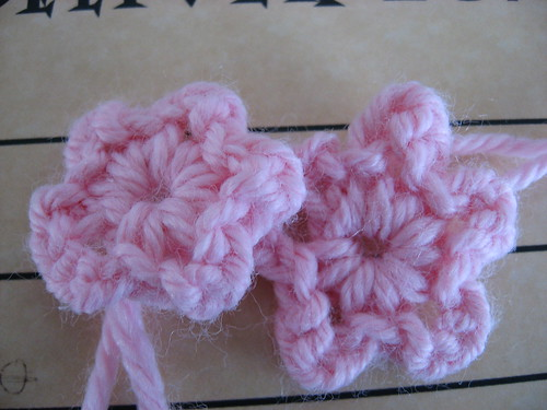Heres a little crocheted flower, too!