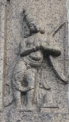 Arjunan worshipping Shivalingam after getting the Pasupatha asthram