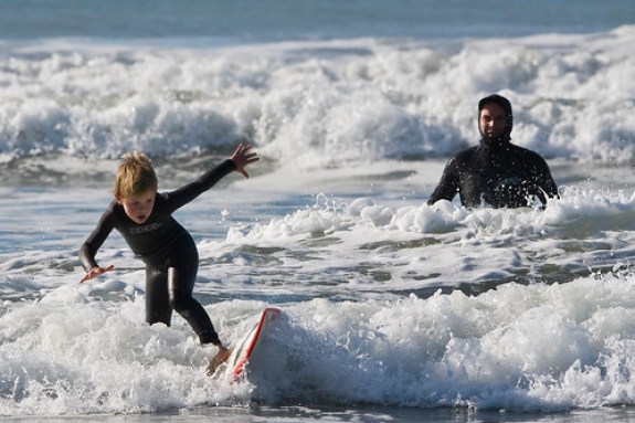 Father and Son Surf Lesson