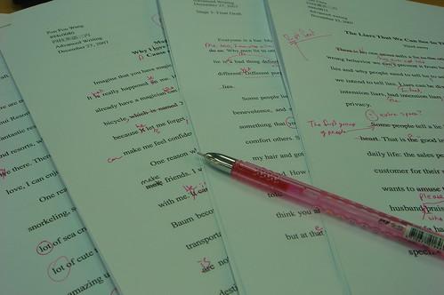 grading essays (image from flickr.com)