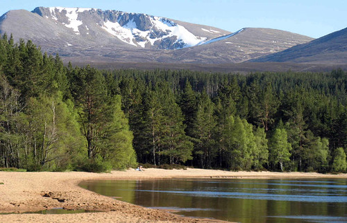 Loch Morlich and the northern corries on Cairngorm