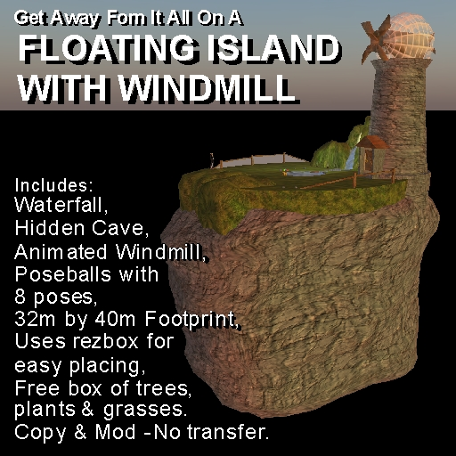 Floating Island With Windmill