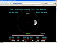 Eclipse lunar - inicio