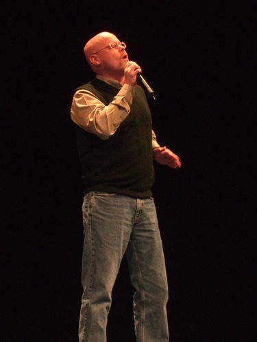 Me on Stage at Northwoods Praising God
