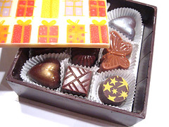 A chocolate chocolate box
