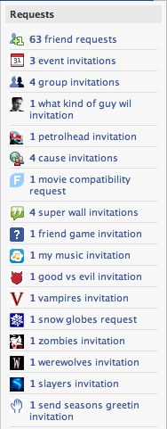 Facebook | Confirm Requests