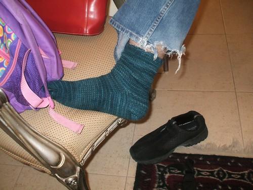 Boyfriend socks on boyfriend