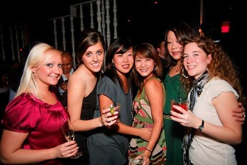 Birthday girls and friends
