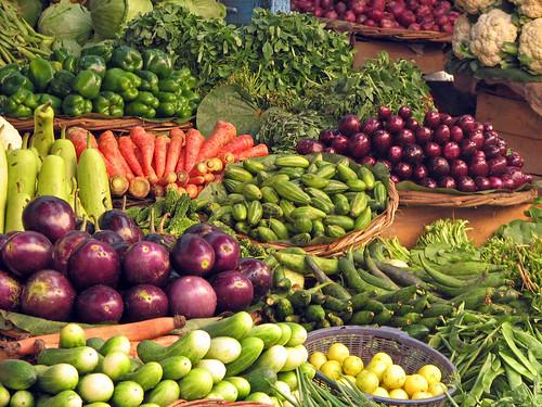 India - Haridwar - 010 - vegetables for sale in Bara Bazaar