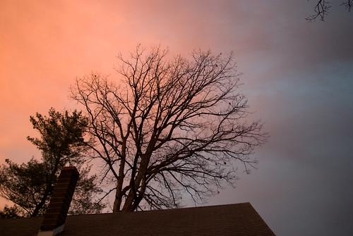 dusk-above house