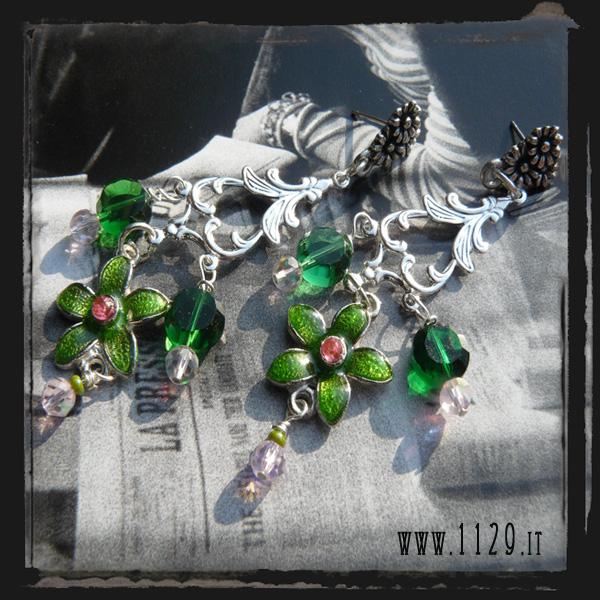 LDFIVER Orecchini verdi - Green earrings