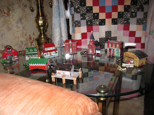Tin Christmas village