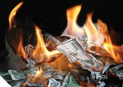burning money