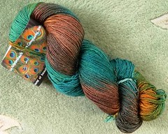 Hankf of Adirondack Silky Sock Yarn in the
